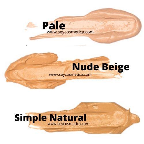 pale, nude biege, simple natural seytu