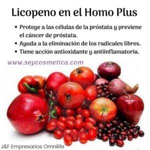 Licopeno en el Homo plus Omnilife